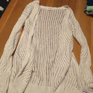 Open knit beige cardigan